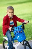 Boy on the bicycle at Park Stock Photos