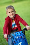 Boy on the bicycle at Park Royalty Free Stock Images