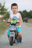 Boy with bicycle Stock Photography