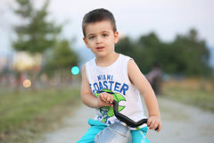 Boy with bicycle Stock Image