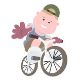 Boy bicyclist Royalty Free Stock Photos