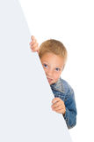 Boy with big card Stock Photography
