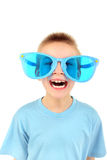 Boy in big glasses Royalty Free Stock Images
