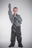 Boy in big shirt Royalty Free Stock Photography