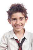 Boy big smile isolated Royalty Free Stock Photography