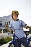 Boy on bike. Royalty Free Stock Photo