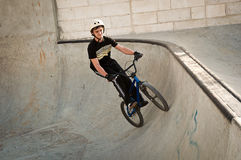 Boy on bike . Royalty Free Stock Images