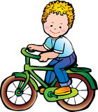 Boy On The Bike Royalty Free Stock Images