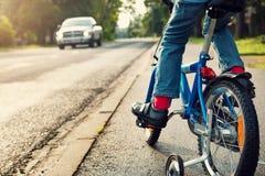 Boy on bike Stock Image