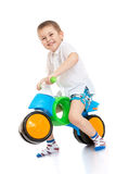 Boy on bike Stock Photos