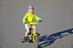 Boy with bike Stock Photography