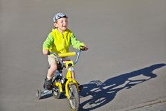 Boy with bike Stock Photos