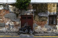 Motobiker Street Art at George Town Stock Images