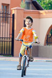 Boy bike ride Royalty Free Stock Photography