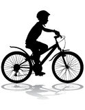 Boy on bike Royalty Free Stock Photos