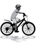 Boy on bike Royalty Free Stock Photography
