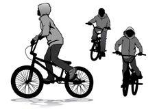 Boy on bike Royalty Free Stock Photos