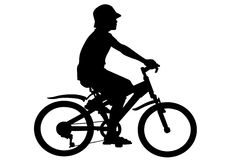 Boy on bike Stock Photography