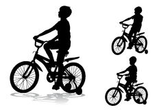 Boy on bike. A boy rides a bike ride on the new Royalty Free Stock Images