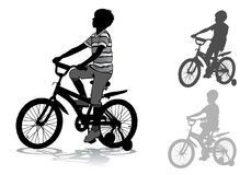 Boy on bike Royalty Free Stock Images