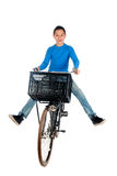 Boy on a bike Stock Image