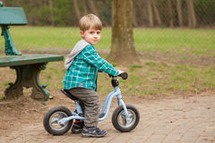 Boy on a bike Royalty Free Stock Photography