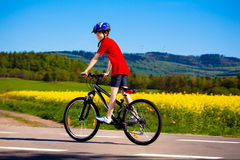 Boy biking Royalty Free Stock Images