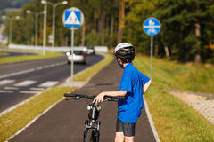 Boy biking Royalty Free Stock Photo
