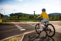 Boy biking Royalty Free Stock Images