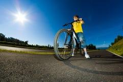 Boy biking Royalty Free Stock Image
