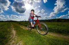 Boy biking Royalty Free Stock Photography