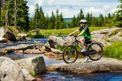 Boy biking Stock Photo