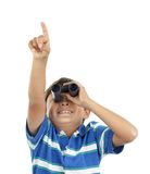 Boy and binoculars Royalty Free Stock Photos