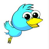 Boy bird Jungle Characters for kids cartoon Stock Photography