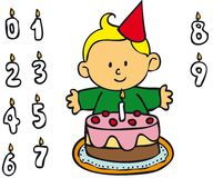 Boy - Birthday Royalty Free Stock Photography
