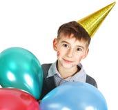 Boy in birthday hat Royalty Free Stock Photo