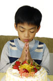 Boy birthday wishes. Young boy and his birthday Stock Images