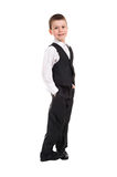Boy in black costume Stock Photos