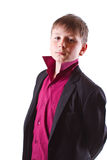 Boy in a black jacket Royalty Free Stock Images