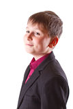 Boy in a black jacket Royalty Free Stock Photography