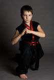 Boy in black kimono Stock Photo