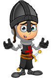 Boy Black Knight - Confused Stock Images