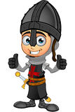 Boy Black Knight - Two Thumbs Up Royalty Free Stock Image