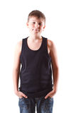 Boy in black shirt Stock Images