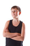 Boy in black shirt Royalty Free Stock Photography