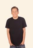 Boy in the black shirt Royalty Free Stock Photos
