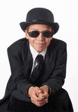 Boy in black suit royalty free stock images