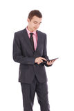 Boy in a black suit Stock Photos
