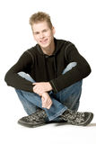 Boy in a black sweater Royalty Free Stock Images