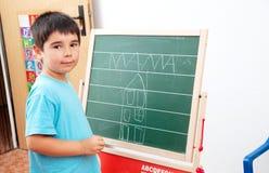 boy with blackboard Royalty Free Stock Photos